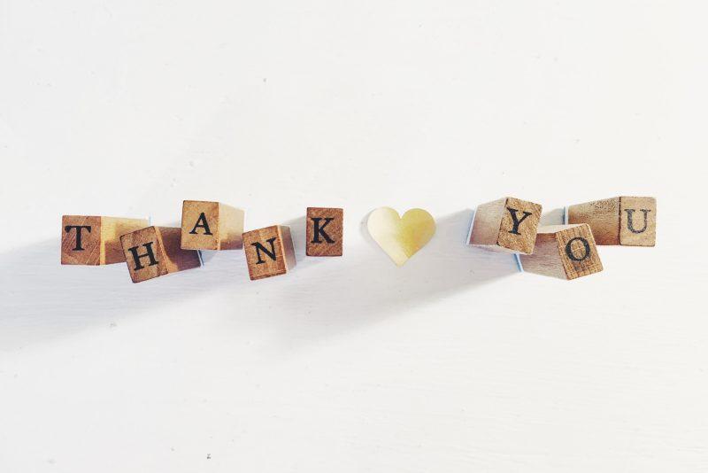Agradece siempre agradece